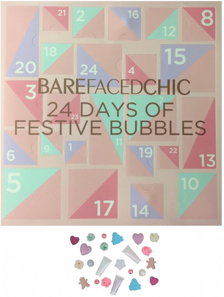 Bare Faced Chic 24 Days Of Festive Bubbles Bath & Shower Advent Calendar Christmas